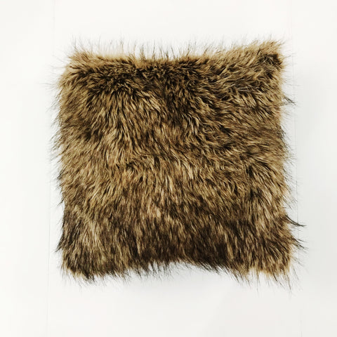 Faux Bear Fur Pillow