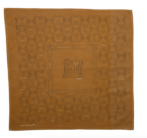 Printed Bandana - Trust Yourself Umber