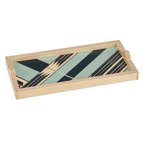 Mini Serving Tray in Sybil Seafoam