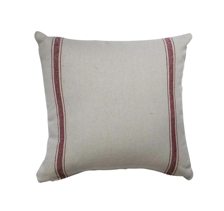 Farmhouse Red Stripe Pillow Cover - 18 x 18