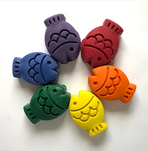 Handcrafted Fish Crayons