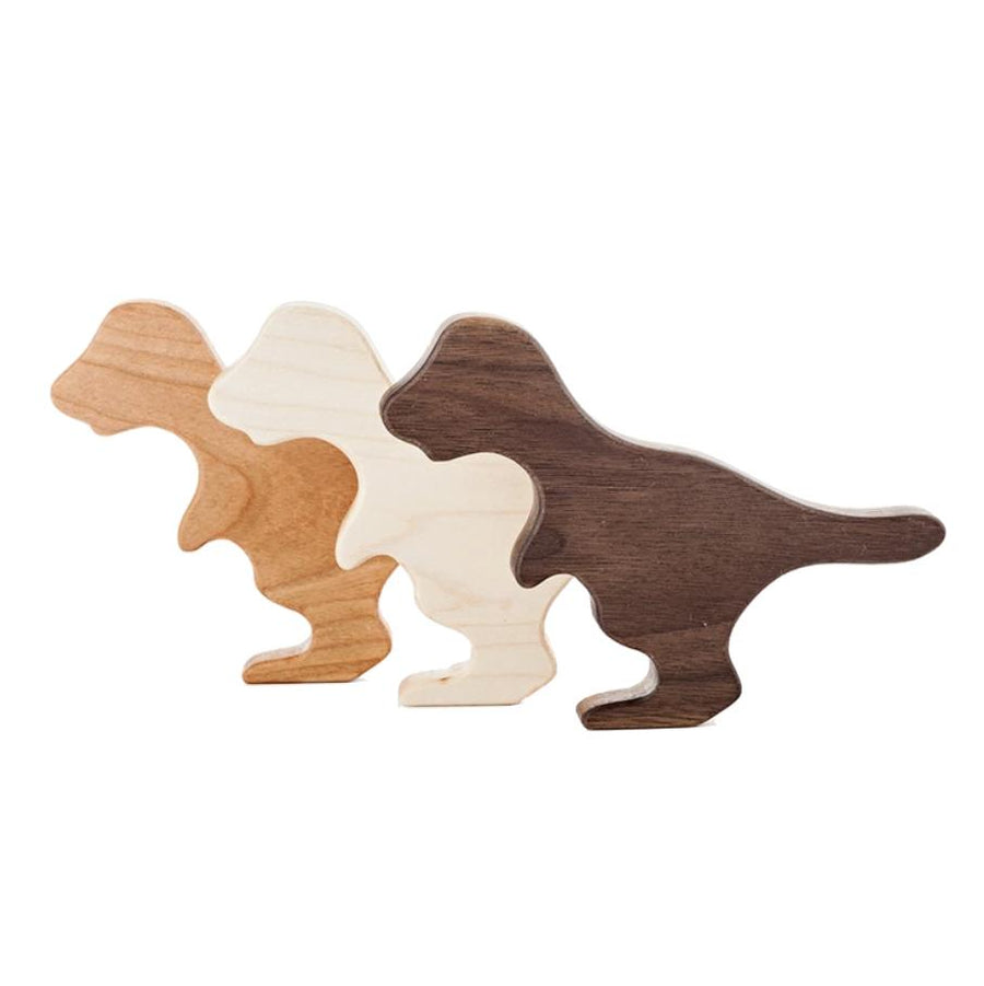 Organic Wood T-Rex Rattle