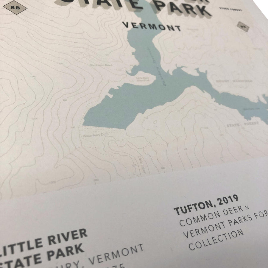 Vermont Parks Collection Print: Little River State Park