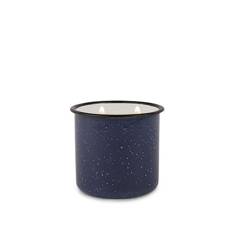 Driftwood and Indigo Enamel Cup Candle