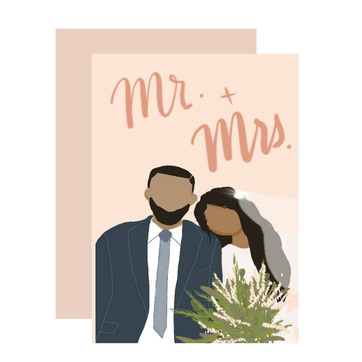 Mr + Mrs Wedding Card - AMP2