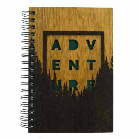 Spiral Mahogany Adventure Notebook