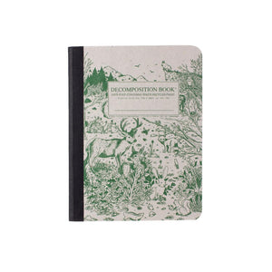 Decomposition Lined Notebook - Green Animals