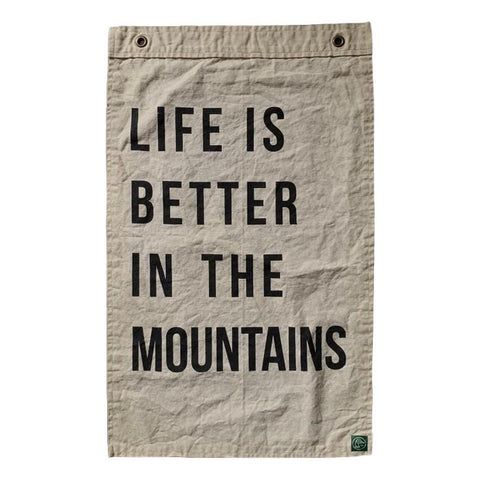 Life is Better in the Mountains Flag