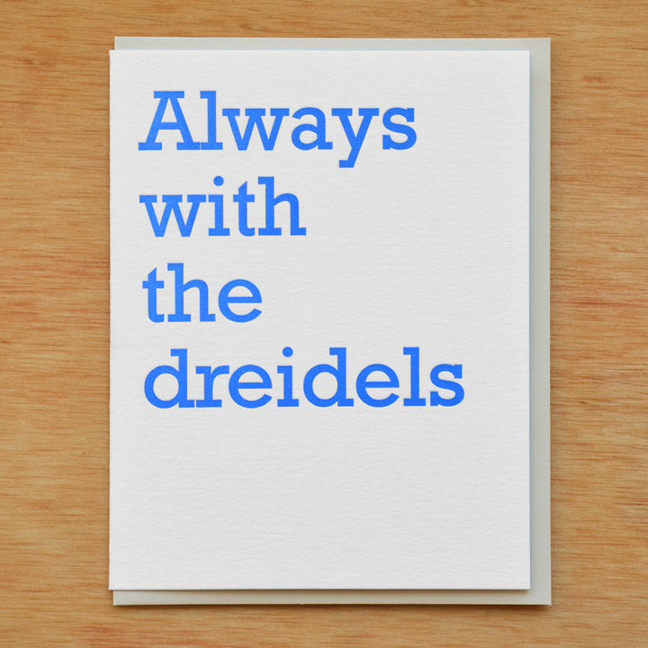 Always with the Dreidels Card - MB7
