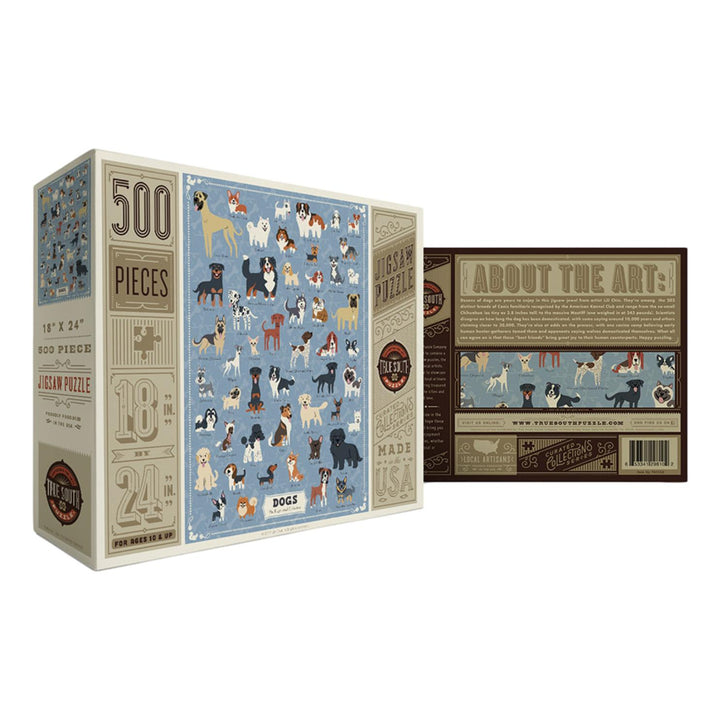 Illustrated Dogs Puzzle - 500 Piece