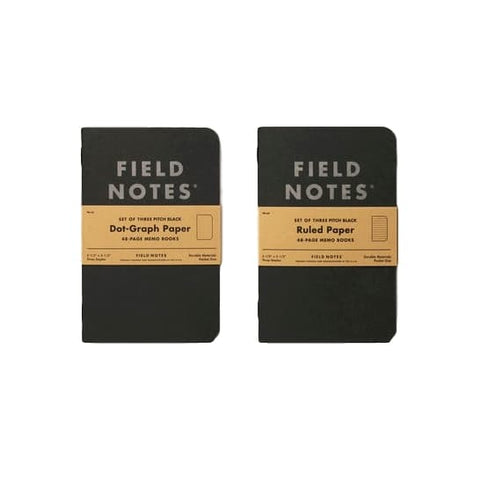 Field Notes Pitch Black Ruled Notebooks