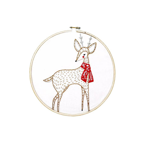 Embroidery Sampler - Merriment Deer