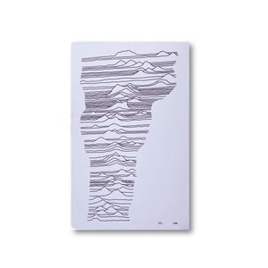 Mountains of Vermont Letterpress Print