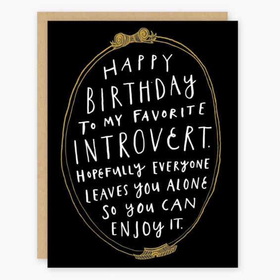 Favorite Introvert Birthday Card - PO5