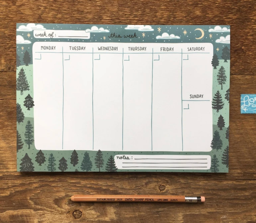 """This Week"" Trees Weekly Notepad"