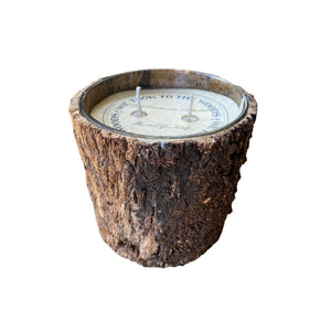 Large Bark Candle - Christmas in Vermont
