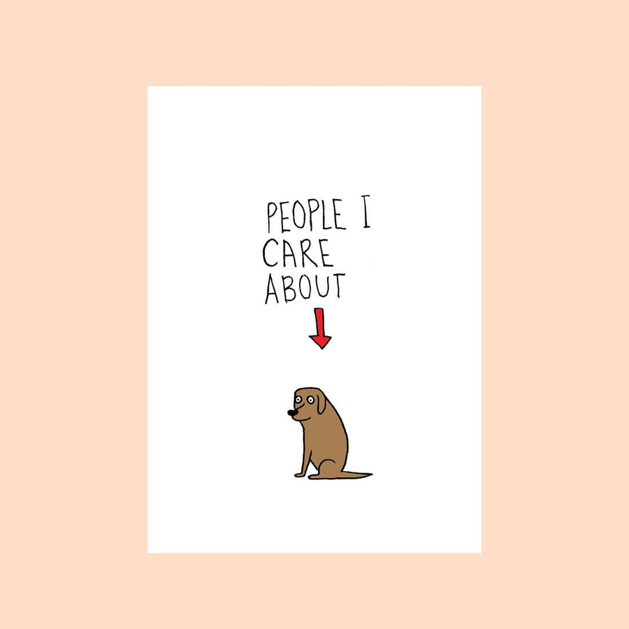 People I Care about Dog Card - FAL