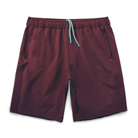 Myles Everyday Men's Short in Maroon/Oxblood