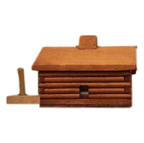 Large Log Cabin Incense Burner