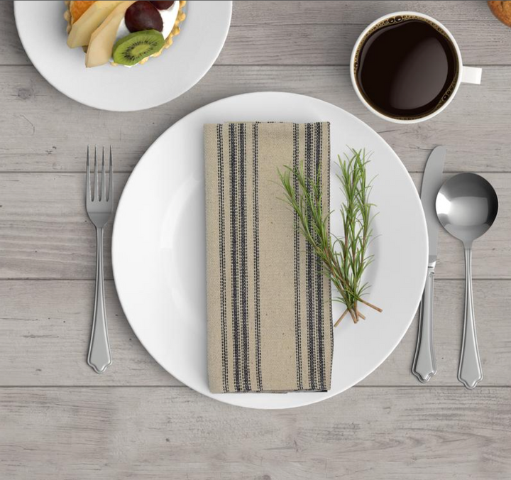 Grain Sack Cotton Napkins - Set of 4