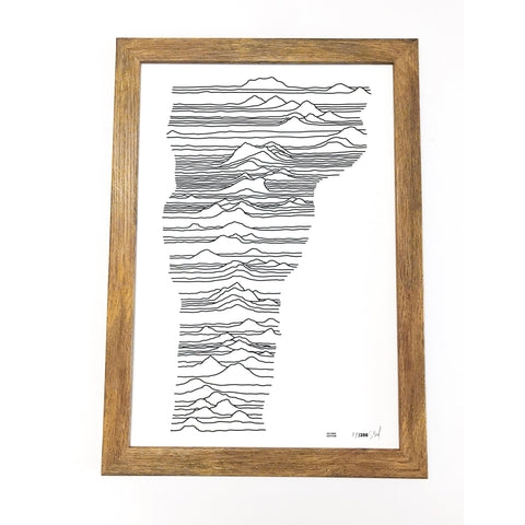 Mountains of Vermont Letterpress Print -13x19