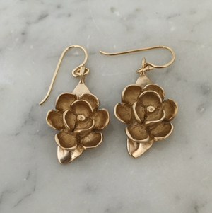 Bronze Magnolia Earrings