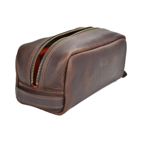 Vermont Made Saddle Leather Dopp Kit