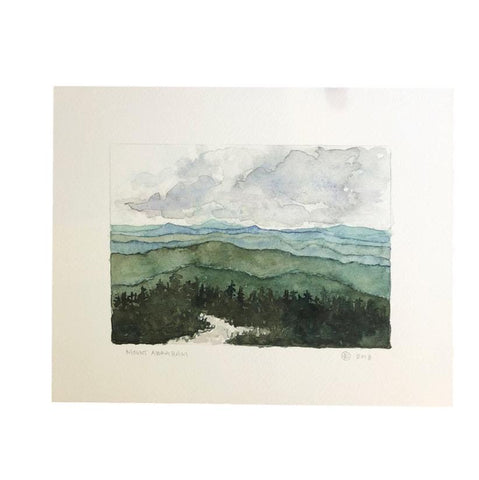 Mount Abraham Watercolor Print