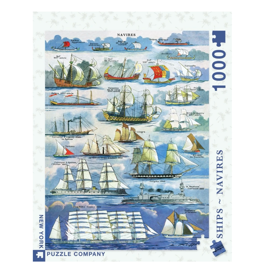 Navires Ships Puzzle - 1000 Piece