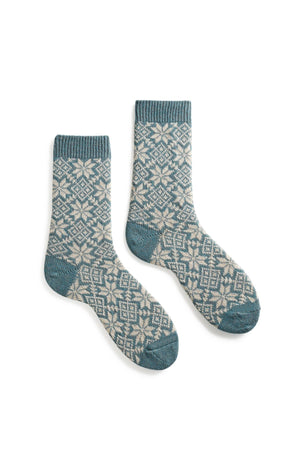 Cashmere/Wool Snowflake Women's Socks