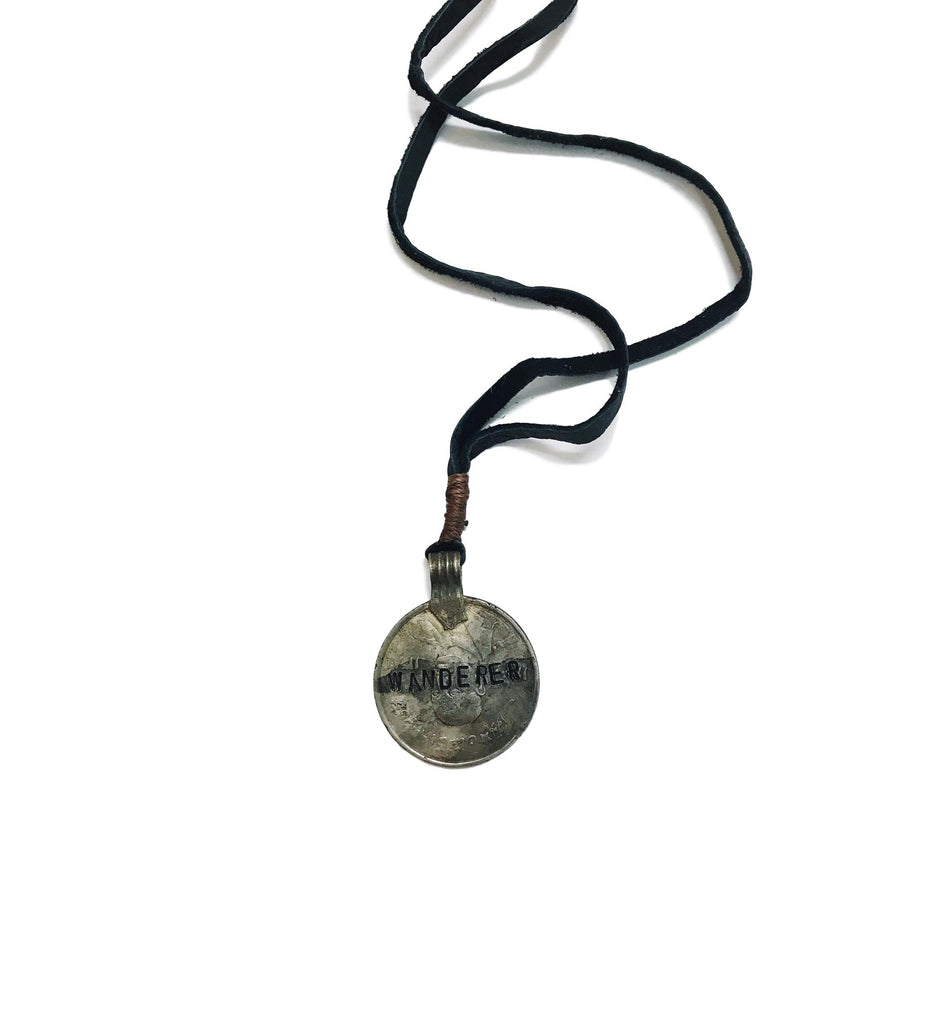 Mantra Coin Necklace - Wanderer