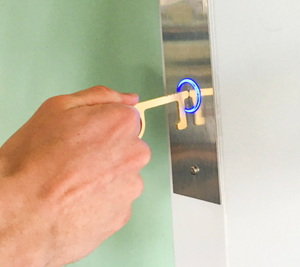 Slim Careful Key - Antimicrobial Door Opener