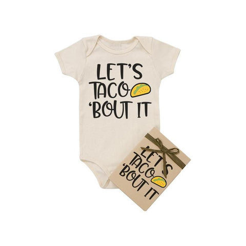 Let's Taco Bout It Organic Cotton Baby Bodysuit