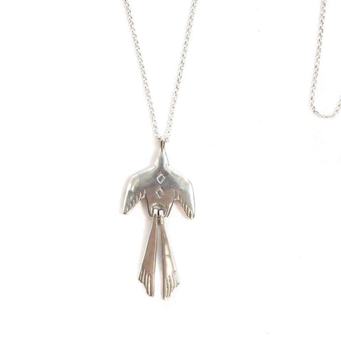 Pluma Bird Necklace - Sterling Silver