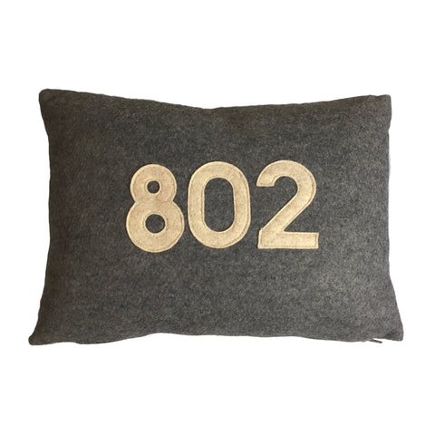 Vermont Area Code 802 Pillow