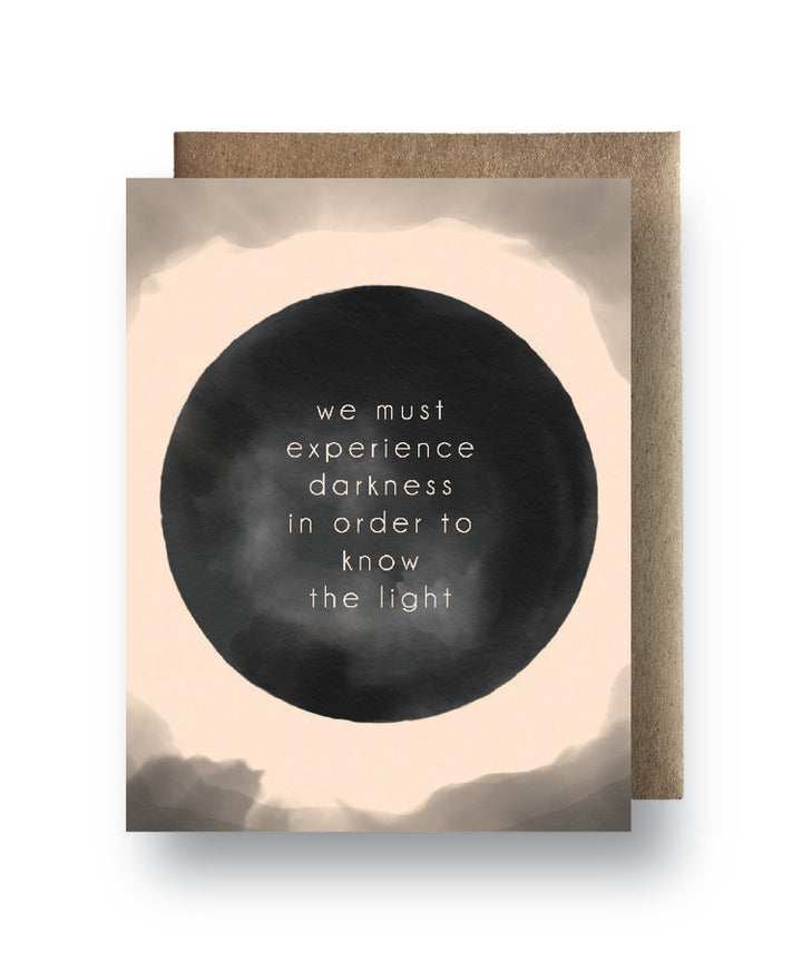 Experience the Darkness The Light Card - MR3