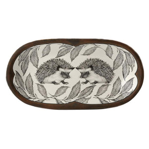 Laura Zindel Rectangular Serving Dish - Hedgehog #1