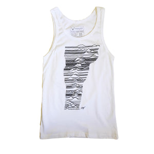 Mountains of Vermont Tank Top in White