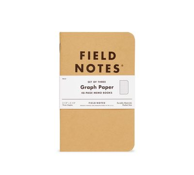 Field Notes Original Kraft Graph Paper 3 Pack