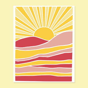 Beautiful Day Sun Pink BIRTHDAY Card - GT6