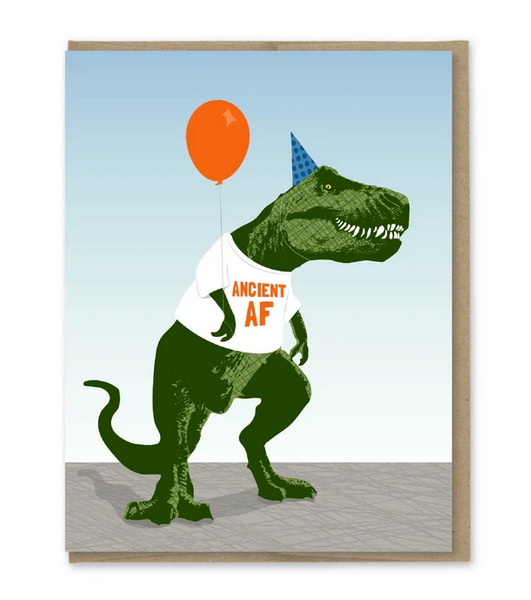 Ancient AF Trex Birthday Card - MP5