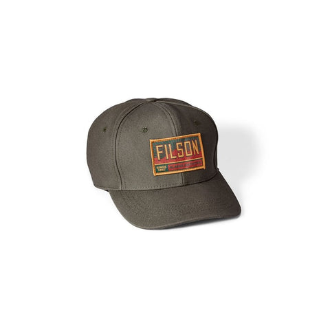Filson Canvas Logger Cap in Otter Green