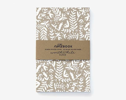 White Ferns on Kraft Notebook