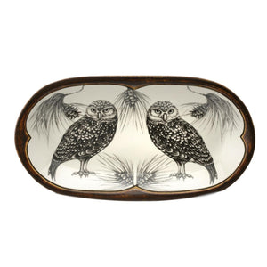 Laura Zindel Rectangular Serving Dish - Burrowing Owl