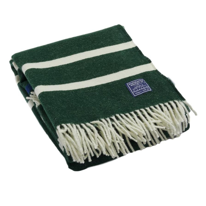 Faribault Nisswa Wool Throw Forest