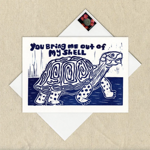 Bring me out of my shell turtle card - WW2