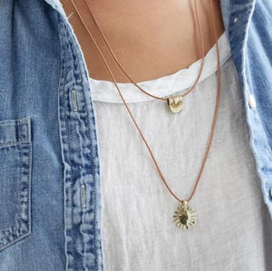 Summer Necklace Brass