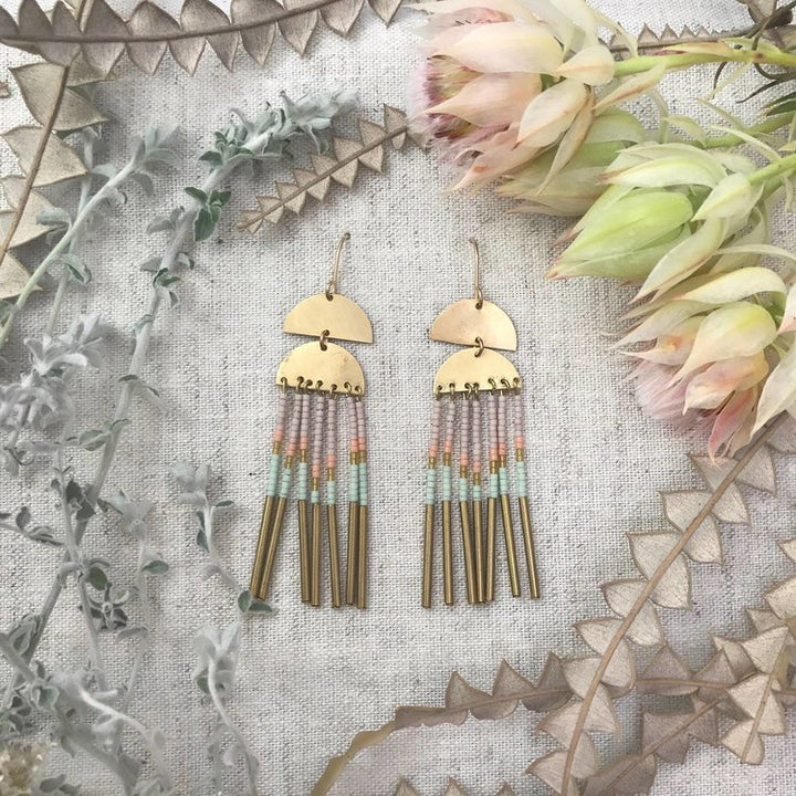 Solar Fringe Pastel Earrings