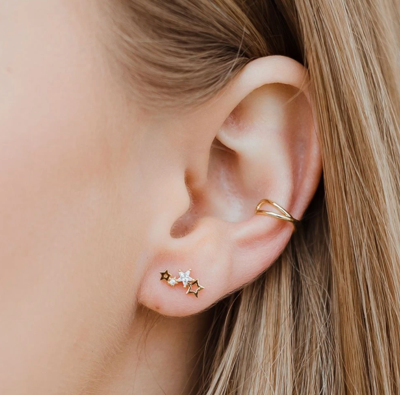 Criss Cross Ear Cuff Gold