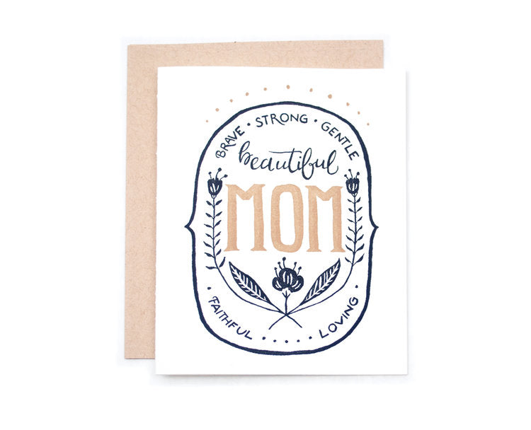 Brave, Gentle, Strong Mom Card - EL2